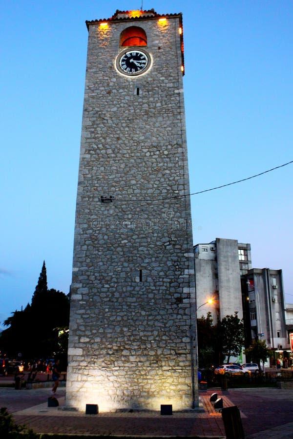 Siedzący kuli Zegarowy wierza - Saat Kulesi obrazy royalty free