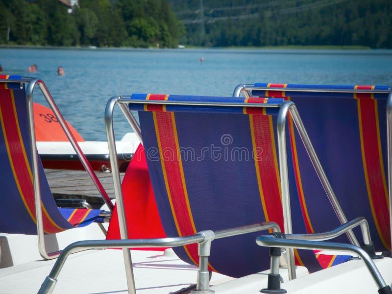 Siedzenia pedalos zdjęcia royalty free