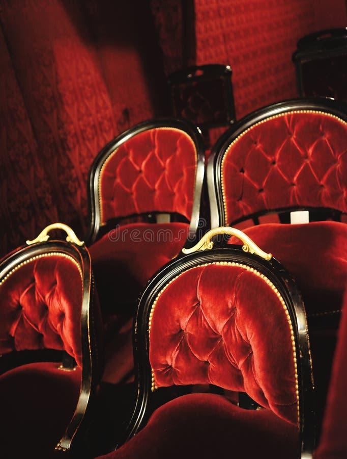Siedzenia w operze Garnier obraz royalty free