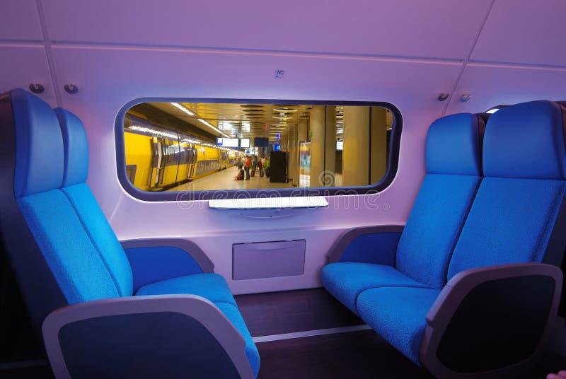 siedzenie pociąg zdjęcie stock