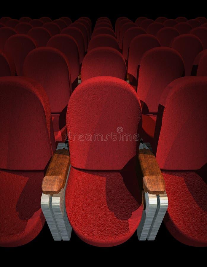 siedzenie w kinie ilustracji