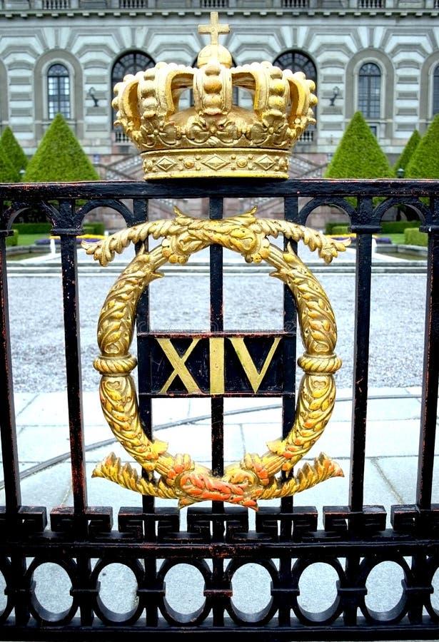 siedziba królewski Stockholm obraz royalty free