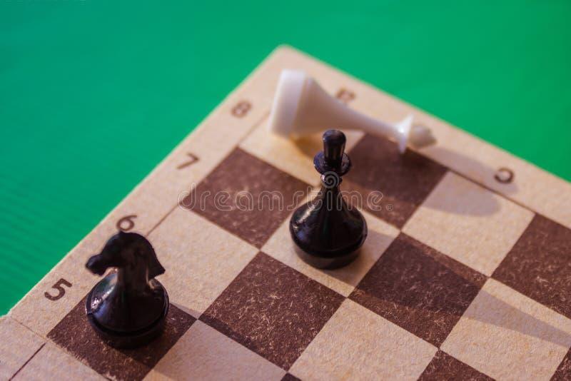 Sieg im Schachspiel lizenzfreie stockfotografie