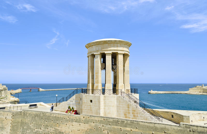 Siege Bell War Memorial In Valletta - Malta Royalty Free Stock Photos