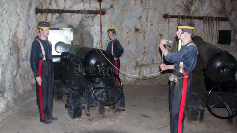Siege Tunnels på Gibraltar royaltyfria bilder