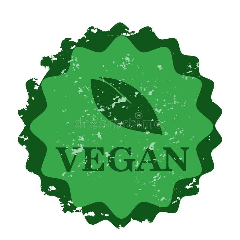 Siegelstempel des strengen Vegetariers stock abbildung
