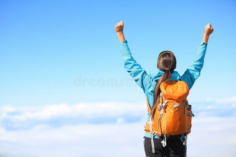 Sieger-/Erfolgskonzept - wandernd lizenzfreies stockbild