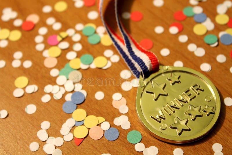 Sieger-Medaille stockfotografie