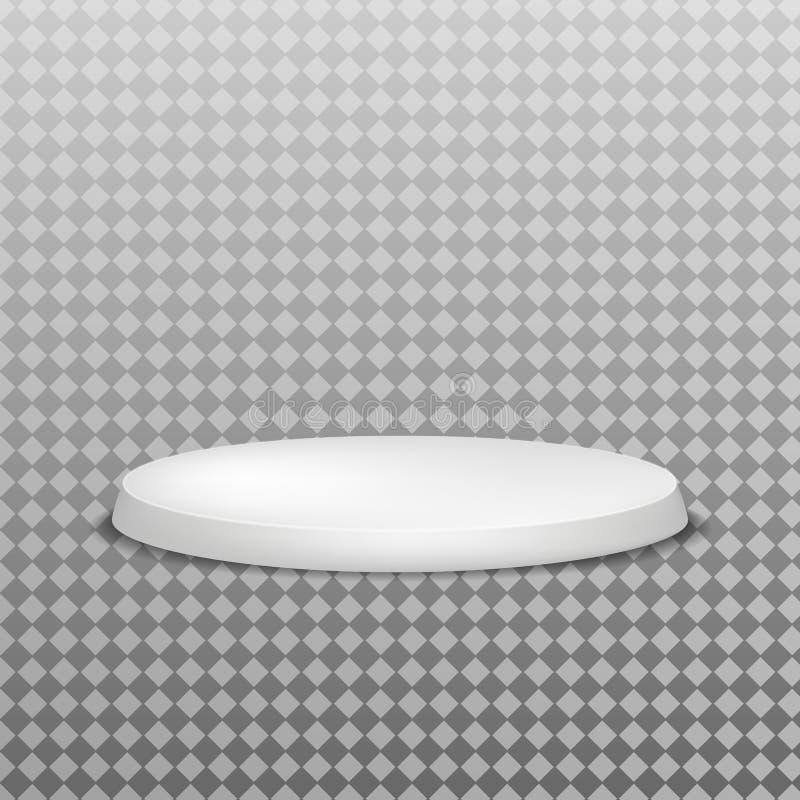 Sieger-Podium, weiß 3d rund Muster für Werbemittel vektor abbildung