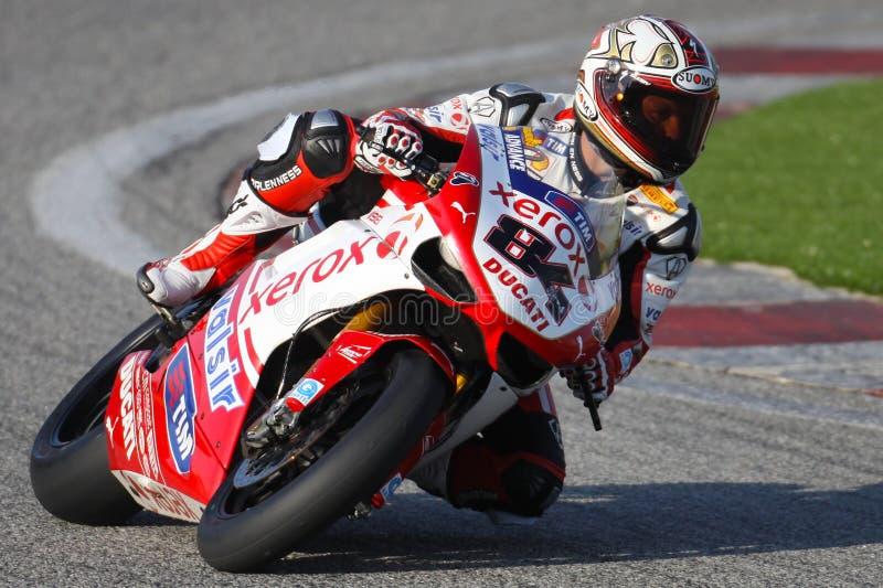 Sieger SBK Kyalami des Michel-Fabrizio Rennen-1 stockfotografie