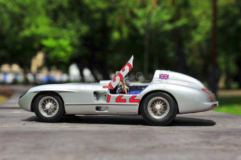Sieger Sir Stirling Moss Mercedes-Benzs 300 SLR Mille Miglia stockbild