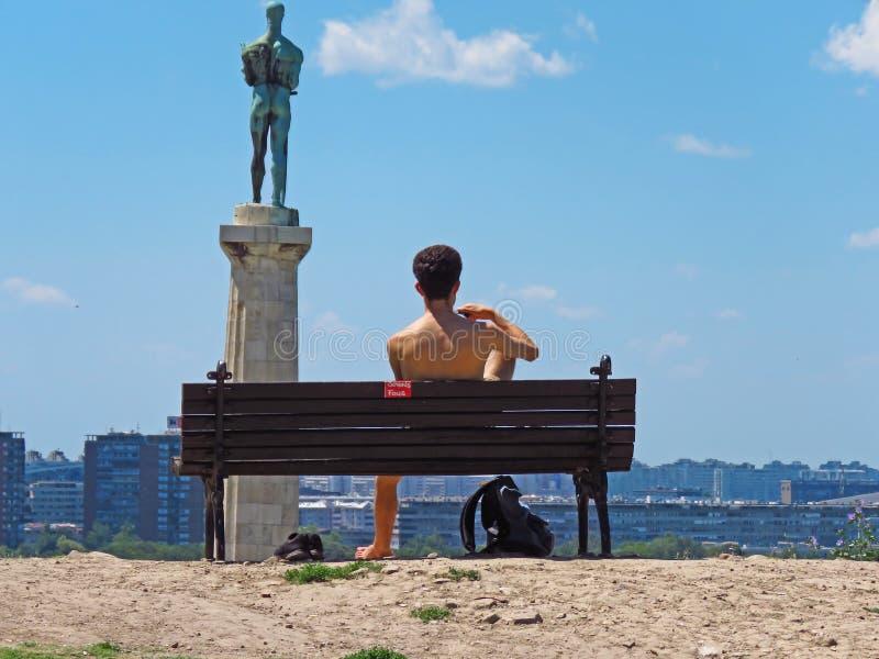 Siegersmonument, Belgrad, Serbien stockbilder