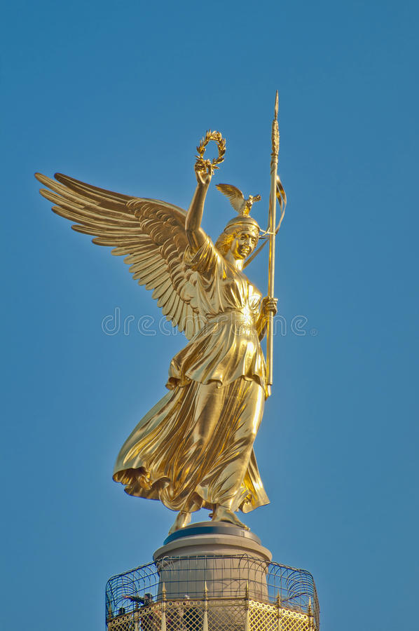 The Siegessäule at Berlin, Germany. The Siegessaule is the Victory Column located on the Tiergarten at Berlin, Germany royalty free stock photography