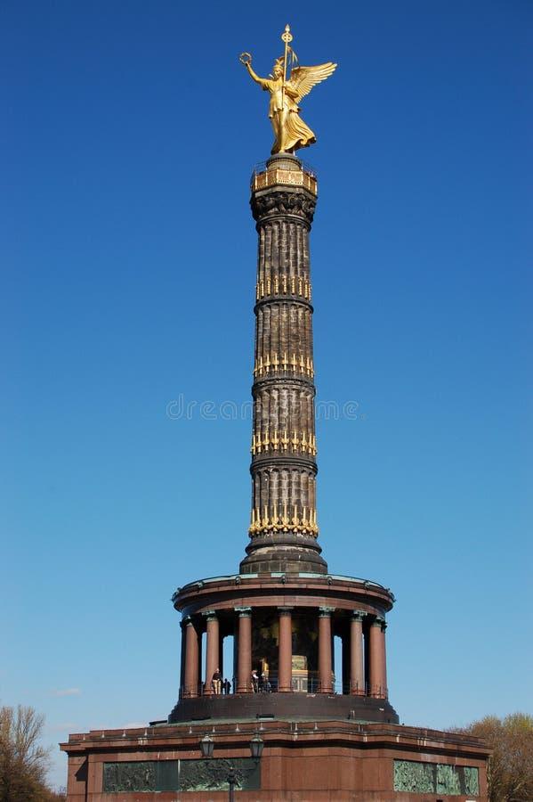 Siegessäule en Berlín imagen de archivo