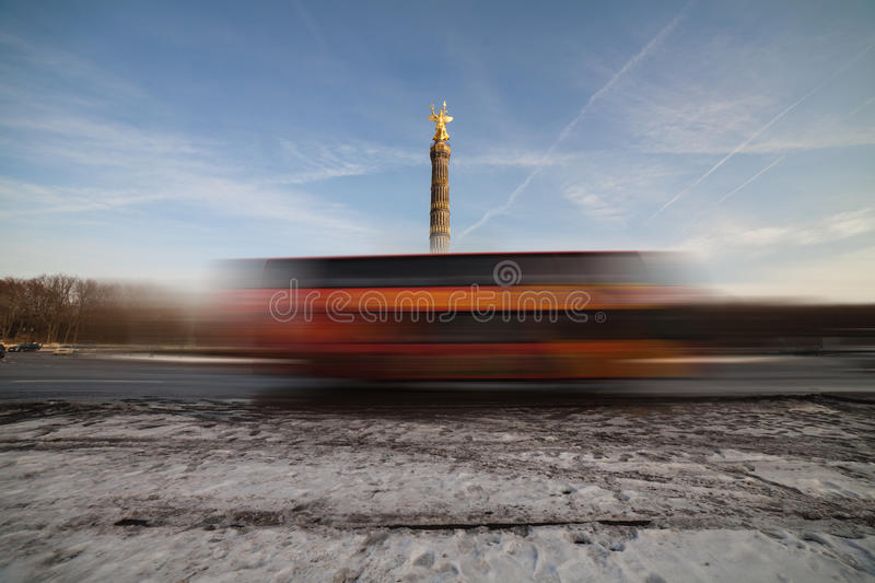 Download Siegessaeule and bus stock image. Image of germany, berliner - 37486681