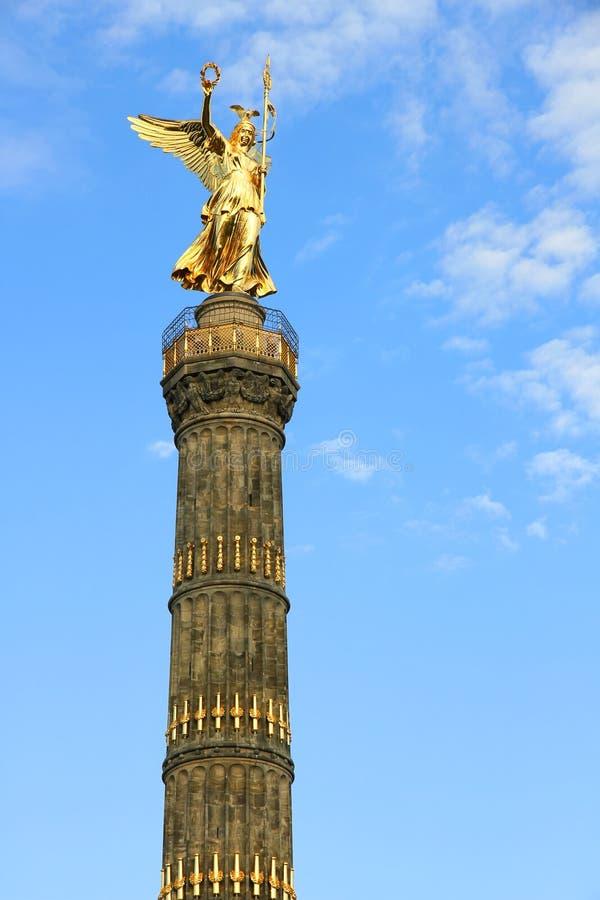 Siegessaule在柏林 库存图片