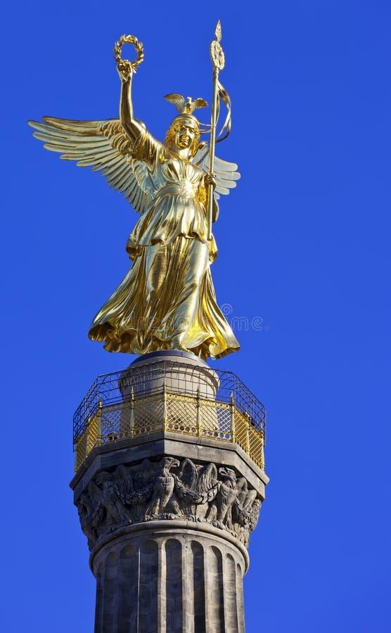 Siegessaule, колонка победы в Tiergarten стоковая фотография rf