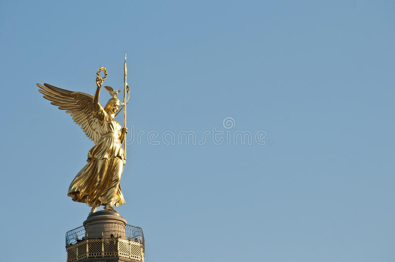 The Siegessaule at Berlin, Germany. The Siegessaule is the Victory Column located on the Tiergarten at Berlin, Germany royalty free stock photography