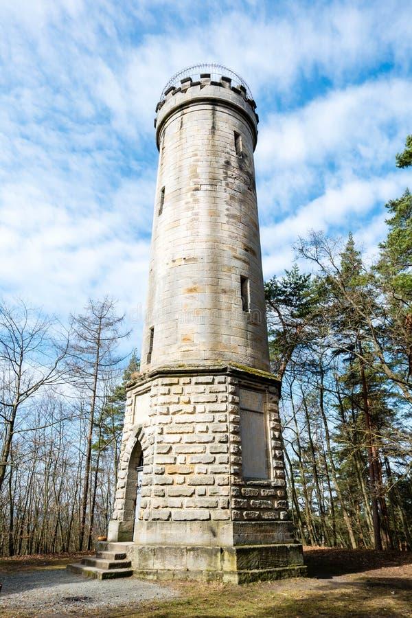 Siegesturm vid Bayreuth Bavaria Tyskland fotografering för bildbyråer