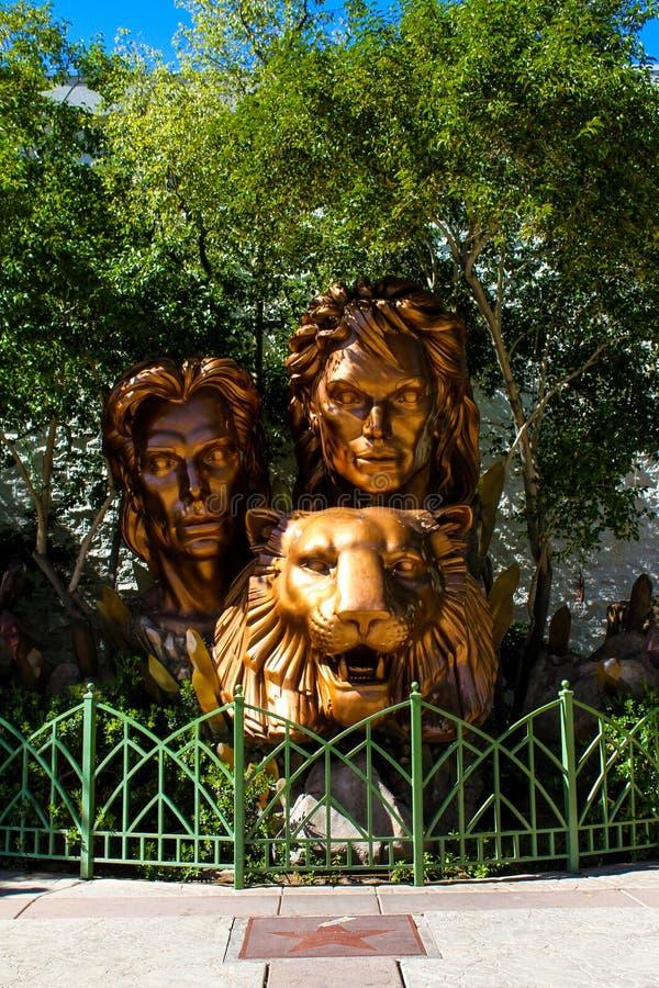 Siegfried e Roy Monument, Las Vegas, NV immagine stock libera da diritti