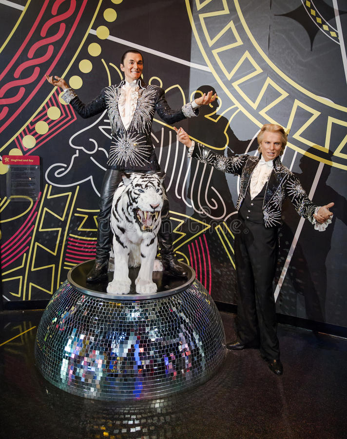 Siegfried en Roy royalty-vrije stock fotografie