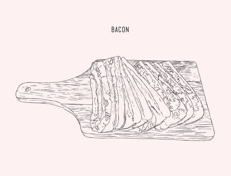 Siekający czosnek, wapno i pokrojony chili dla kumberlandu, nakreślenie wektor ilustracji