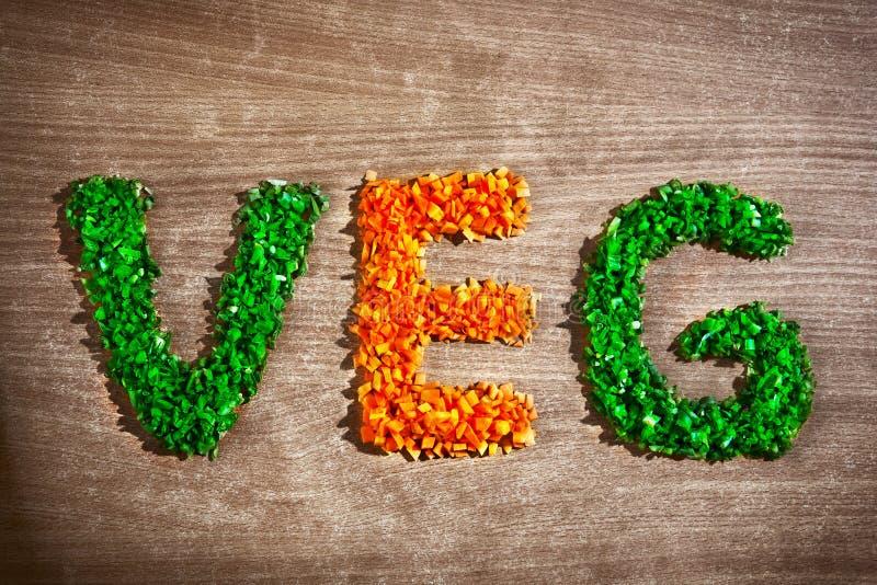 siekający kawałków veg jarzynowy słowo zdjęcie stock