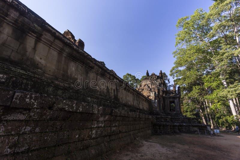 Siem oogst Angkor Wat Preah Khan is een tempel in Angkor, Kambodja, in de 12de eeuw voor Koning Jayavarman VII wordt gebouwd die royalty-vrije stock foto's