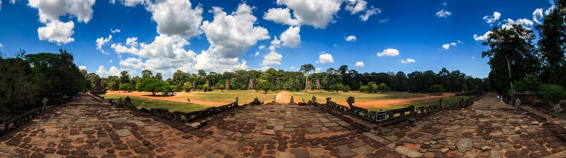 Angkor Thom royaltyfri foto