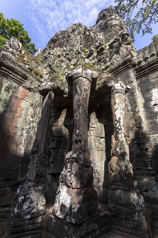 Siem Reap Angkor Wat терраса слонов часть огороженного города Angkor Thom, загубленного комплекса виска в Камбодже стоковое изображение