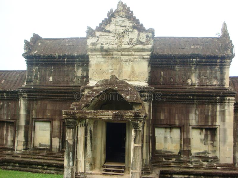 Siem Reap buildings and temples Cambodia. Siem Reap giant historical ancient temples and buildings some restored and some overgrown by trees in Cambodia stock photography