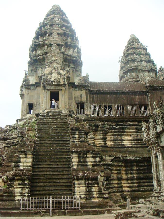 Siem Reap byggnader och tempel Cambodja arkivbilder