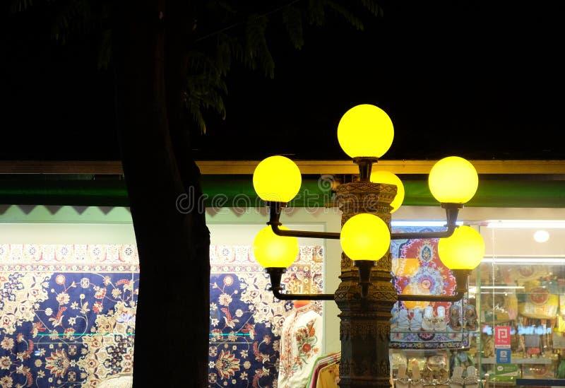 Beautiful night lantern, night lighting royalty free stock photography