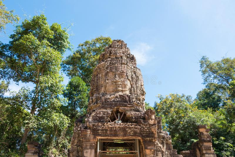Siem Reap, Cambodia - Nov 30 2016: Ta Prohm Temple in Angkor. a stock photos