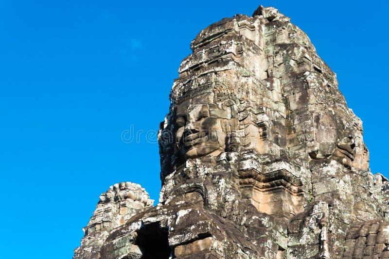 Siem Reap Cambodja - December 08 2016: Bayon tempel i Angkor Thom arkivbilder