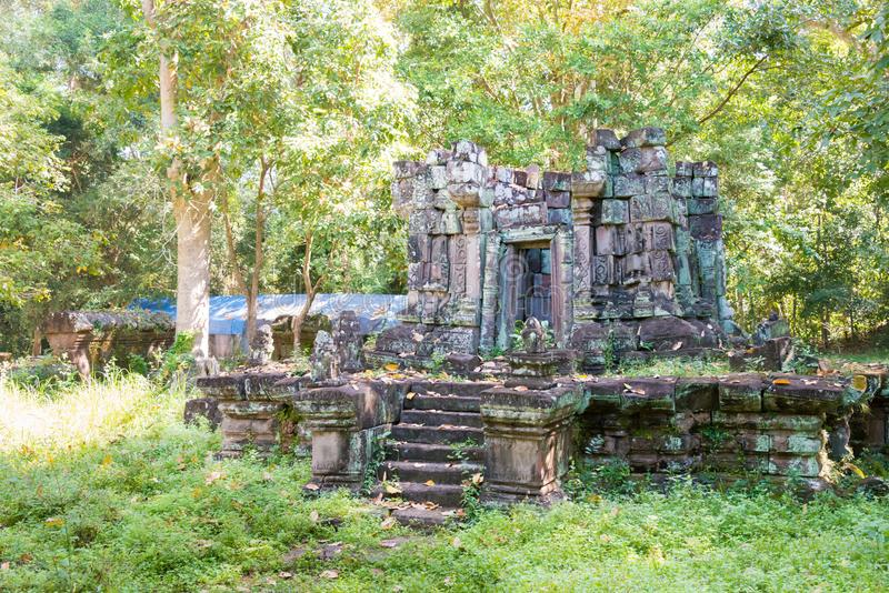 Siem Reap Cambodja - December 08 2016: Khleang i Angkor Thom en fam arkivbilder