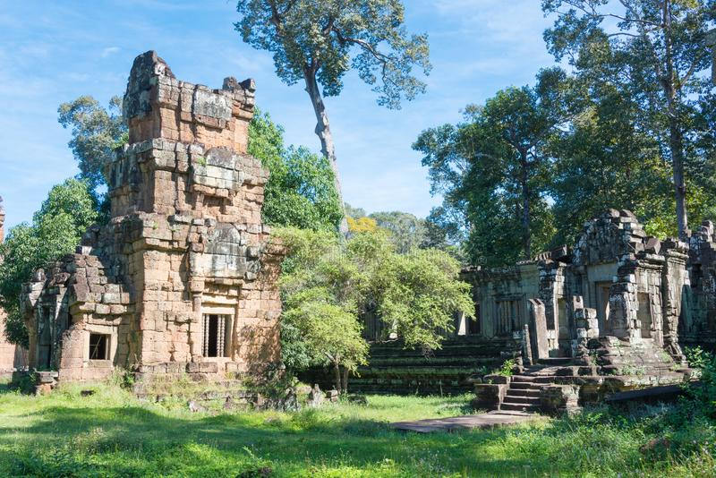 Siem Reap Cambodja - December 08 2016: Khleang i Angkor Thom en fam royaltyfria foton