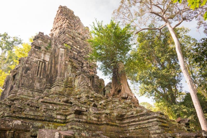 Siem Reap Cambodja - December 10 2016: Preah Palilay i Angkor Thom arkivfoto