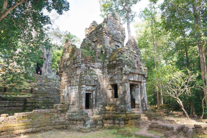Siem Reap Cambodja - December 10 2016: Preah Palilay i Angkor Thom royaltyfri bild