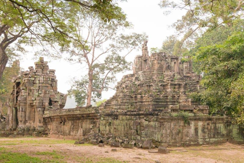 Siem Reap Cambodja - December 10 2016: Preah Pithu i Angkor Thom A arkivfoto