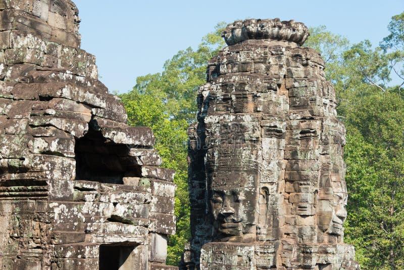 Siem Reap Cambodja - Februari 3 2015: Angkor Thom ett berömt historiskt royaltyfri foto