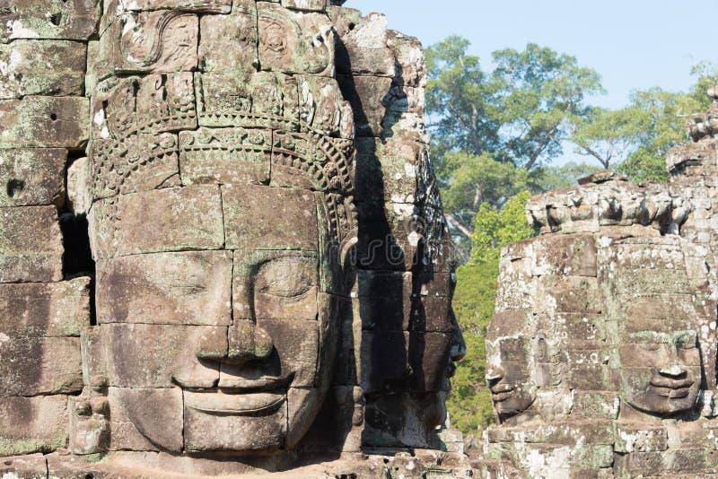 Siem Reap Cambodja - Februari 3 2015: Angkor Thom ett berömt historiskt royaltyfri bild