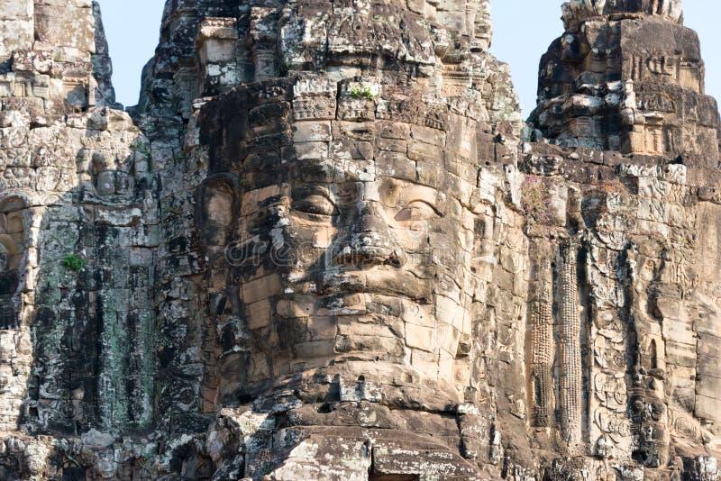 Siem Reap Cambodja - Februari 4 2015: Angkor Thom ett berömt historiskt royaltyfria bilder