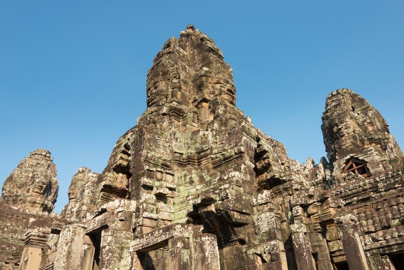 Siem Reap Cambodja - Februari 4 2015: Angkor Thom ett berömt historiskt arkivfoto