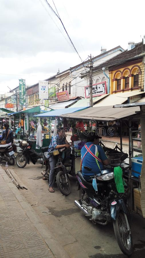 Siem Reap City. In Cambodia stock image