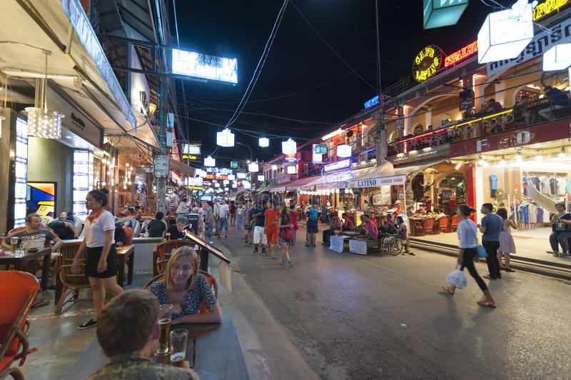 Download Siem Reap Pub Street editorial stock photo. Image of life - 67712163