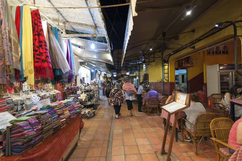 Siem Reap Pub Street. Siem Reap, Cambodia - 6 DEC 2015: Pub Street in Siem Reap, the most popular place for outsider stock images
