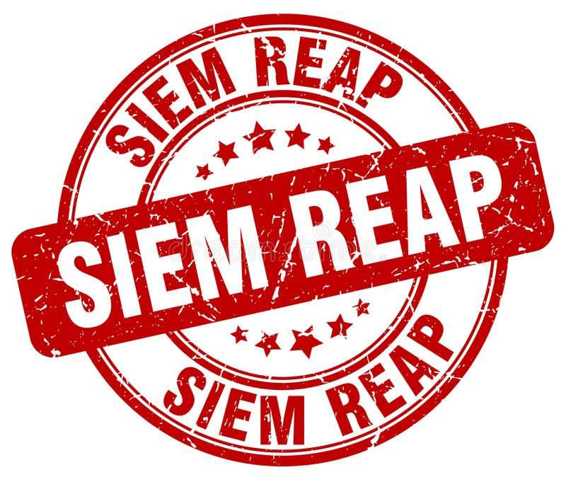 Siem Reap stämpel stock illustrationer