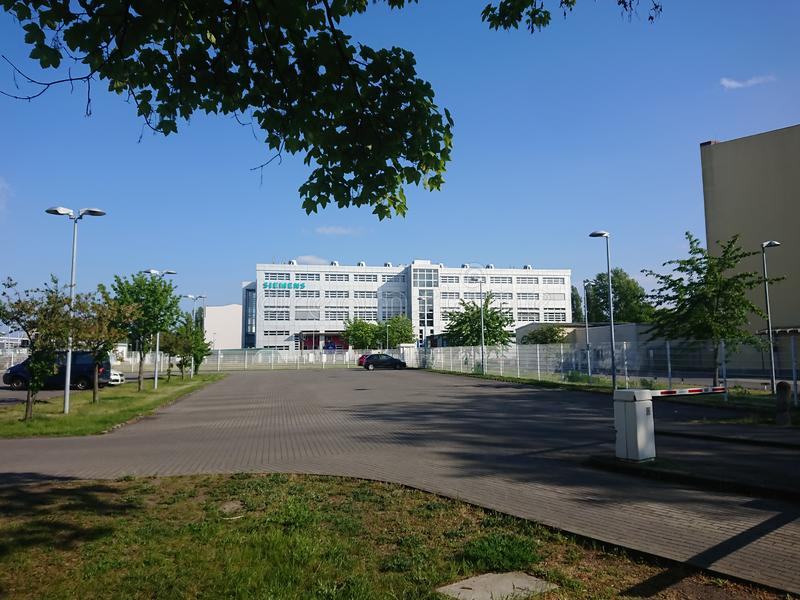 Siemens headquarters building in Berlin, Germany stock images