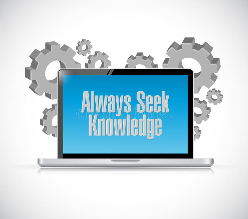 siempre concepto de la muestra de la tecnología del conocimiento de la búsqueda libre illustration